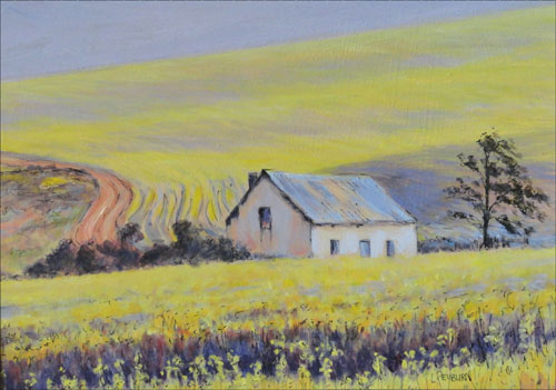 Cottage in the canola